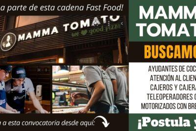 Nuevos empleos PIZZERÍA MAMMA TOMATO