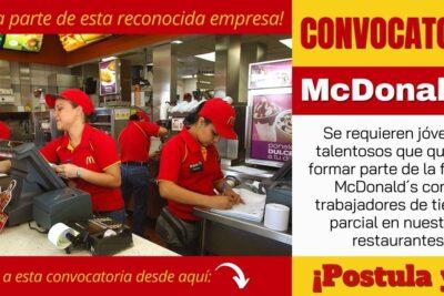 Empleos disponibles en McDonald`s