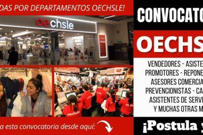 Convocatoria de empleos OECHSLE