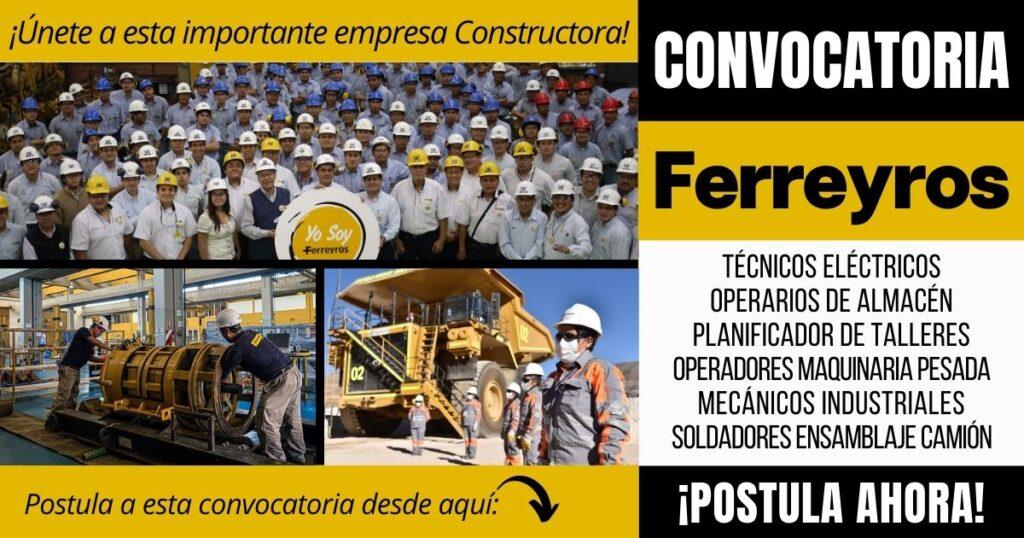 Empleos disponibles empresa FERREYROS