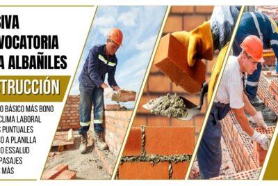 empleos obreros albañiles construcción