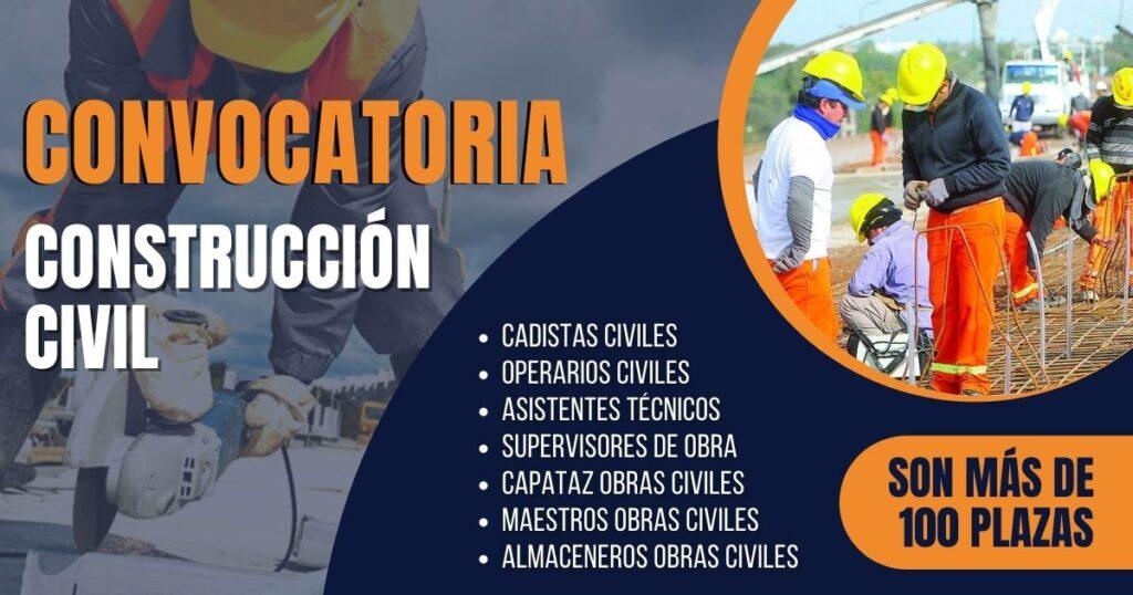 convocatoria empleos construcción civil