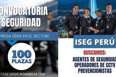 agentes de seguridad iseg perú