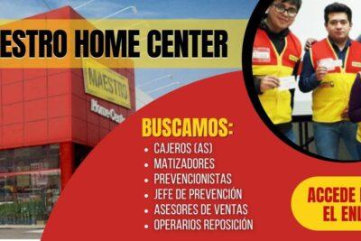 nueva convocatoria maestro home center