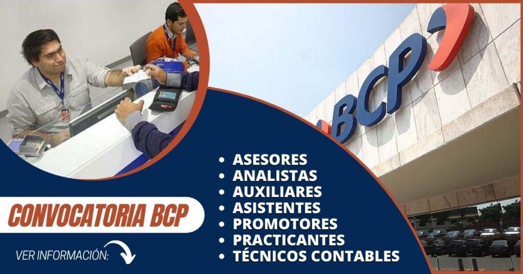 convocatoria banco de crédito del perú