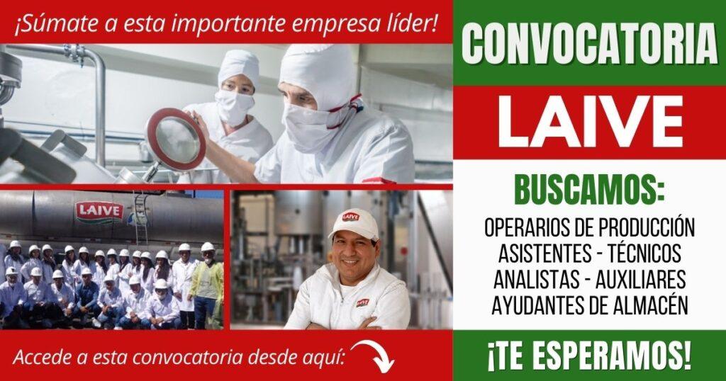 Convocatoria de empleos empresa LAIVE