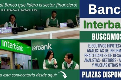 Empleos disponibles Banco INTERBANK