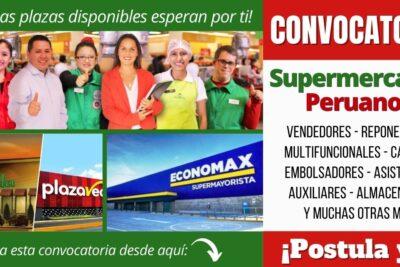 Empleos disponibles en SUPERMERCADOS PERUANOS