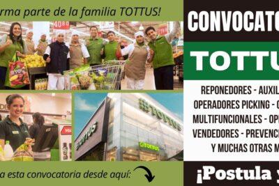 Empleos disponibles en TIENDAS TOTTUS