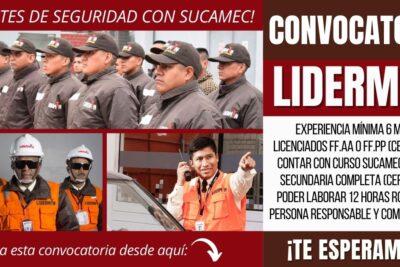 Nuevos empleos Agentes de Seguridad LIDERMAN