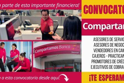 Nuevos empleos FINANCIERA COMPARTAMOS