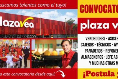 Nuevos empleos disponibles PLAZA VEA